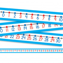 CD-4421 - Student Number Lines 30/Pk 22 X 1-1/2 Numbers 0-30 in Number Lines