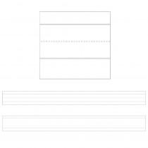 CD-4453 - Sentence Strips Lined White 100Pk 3 X 24 in Sentence Strips