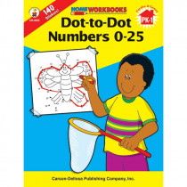CD-4502 - Dot-To-Dot Numbers 0-25 Home Workbook in Numeration