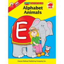 CD-4513 - Alphabet Animals Home Workbook in Letter Recognition