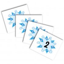 CD-5423 - Calendar Cover-Ups Snowflakes 36Pk Kid-Drawn in Calendars