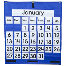 CD-5605 - Pocket Chart Monthly Calendar 25 X 28 in Calendars