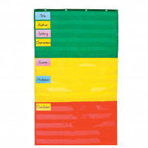 CD-5642 - Pocket Chart Adjustable 34 X 60 in Pocket Charts