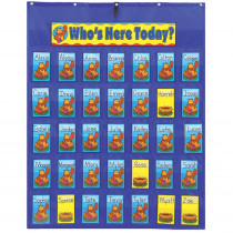 CD-5644 - Pocket Chart Attendance/Multiuse 30X38 & Up Student Cards & Header in Pocket Charts