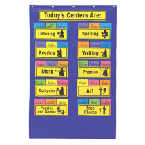 CD-5646 - Pocket Chart Centers 27 X 42 Up To 12 Centers in Pocket Charts