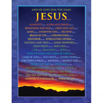 CD-6324 - Chartlet Names Of Jesus 17X22 in Inspirational
