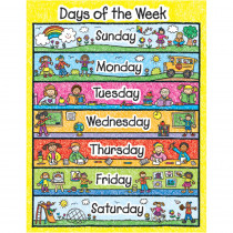 CD-6392 - Chart Days Of The Week Kid Drawn in Miscellaneous