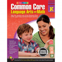 CD-704500 - Gr K Common Core Language Arts & Math Book in Skill Builders
