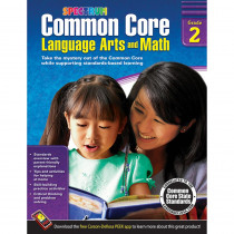 CD-704502 - Gr 2 Common Core Language Arts & Math Book in Skill Builders