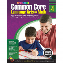 CD-704504 - Gr 4 Common Core Language Arts & Math Book in Skill Builders