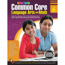 CD-704506 - Gr 6 Common Core Language Arts & Math Book in Skill Builders