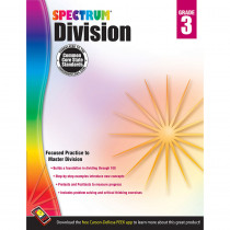 CD-704508 - Spectrum Gr3 Division Workbook in Multiplication & Division