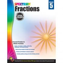 CD-704511 - Spectrum Gr5 Fractions Workbook in Fractions & Decimals