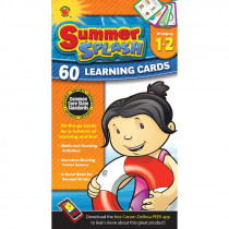 CD-734040 - Bridging Gr 1-2 Summer Splash Learning Flash Cards in Skill Builders