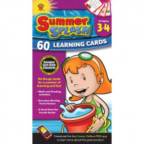 CD-734042 - Bridging Gr 3-4 Summer Splash Learning Flash Cards in Skill Builders
