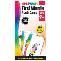CD-734060 - Spectrum Flash Cards First Words in Word Skills