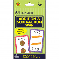 Addition & Subtraction War Flash Cards - CD-734083 | Carson Dellosa Education | Flash Cards