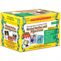 CD-D44045 - Nouns Verbs And Adjectives Learning Cards Set in Vocabulary Skills