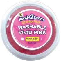 CE-6622 - Jumbo Circ Wash Stamp Pad Vivid Pnk in Stamps & Stamp Pads