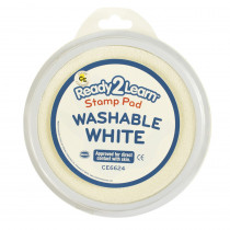 CE-6624 - Jumbo Circ Washable Stamp Pad Wht in Stamps & Stamp Pads