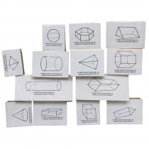 CE-788 - Stamp Set Three Dimensional 13/Pk Geometrimc Shapes in Stamps & Stamp Pads