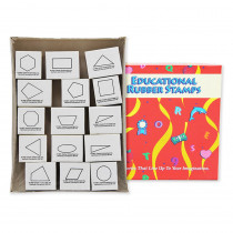 CE-789 - Stamp Set Plane Geometry 15/Pk Wood in Stamps & Stamp Pads