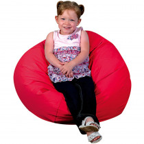 CF-610003 - Round Bean Bag 26In Red in Floor Cushions