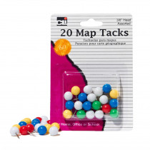 CHL21238 - Map Tacks Pack Of 20 in Push Pins