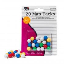CHL21238 - Map Tacks Pack Of 20 in Push Pins