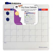 "Magnetic Dry Erase Calendar - Includes Marker/Eraser and 2 Magnets - 14 x 14"" - 6 Each/Shelf Tray - CHL35300ST | Charles Leonard | Calendars"""