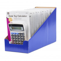 Calculator - Desktop - 8 Digit, 12 Cds/Shelf Tray - CHL39200ST | Charles Leonard | Calculators