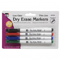 CHL47834 - Dry Erase Marker Thin Line 4 Pk Assorted Colors in Whiteboard Accessories