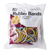 CHL56385 - Rubber Bands Asst Colors 1 3/8 Oz Bag in Mailroom