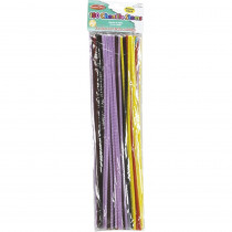 Chenille Stems - 4 mm/12 - Assorted Colors - 100/bag - CHL65400 | Charles Leonard | Chenille Stems""