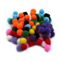CHL69100 - Pom Poms 1.5In Asst Colors 100Ct in Craft Puffs