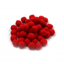 CHL69530 - Pom Poms 1In Red 50Ct in Craft Puffs