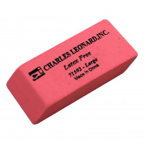 CHL71502 - 12/Bx Synthetic Pink Wedge Erasers Large in Erasers