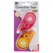 "Correction Tape - Assorted Colors - 1/5 X 394"" - 2/Cd - CHL72788 