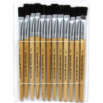 CHL73150 - Brushes Stubby Easel Flat 1/2In Natural Bristle 12Ct in Paint Brushes