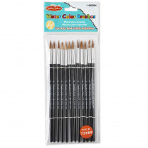 CHL73506 - Brushes Water Color Pointed #6 11/16 Camel Hair 12 Ct in Paint Brushes