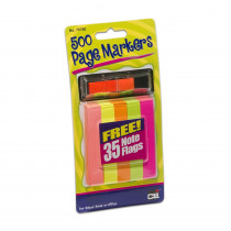 CHL76780ST - Page Markers 500 W/ 35 Note Flags 12/Shelf Tray in Post It & Self-stick Notes