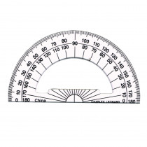 CHL77104 - 4 Inch Protractor Plastic in Drawing Instruments