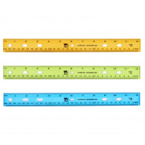 CHL77336 - Translucent 12In Plastic Ruler Asst Colors in Rulers