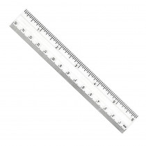 CHL80610 - Clear Plastic 6In Ruler Inches / Metric in Rulers