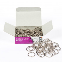 CHLR19 - Rings Loose Leaf 3/4In 100/Bx in Book Rings