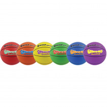CHSSQBBSET - Basketball Set/6 Rhino Skin 8In Super Squeeze Asst in Balls