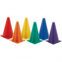 CHSTC9SET - Hi Visibility  Plastic Cone Set Fluorescent in Cones