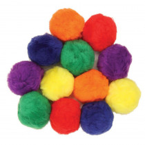 CK-16654 - Colossal Fluff Balls 70 Mm Multi Color in Craft Puffs