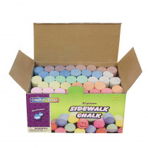 CK-1736 - Sidewalk Chalk 37 Pieces in Chalk