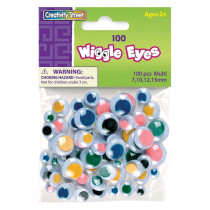CK-344601 - Wiggle Eyes Asst Size100 Multi in Wiggle Eyes